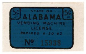 (I.B) US Revenue : Vending Machine License 5c (Alabama)