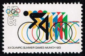 US #1460 Bicycling and Olympic Rings; Used (0.25)