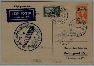 Hungary Zeppelin card 27.3.31 Budapest72