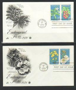 US 1783-1786 Endangered Flora 1979 PCS S/2 U/A FDC