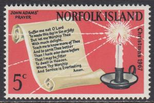 Norfolk Is. 115 MNH - Christmas 1967