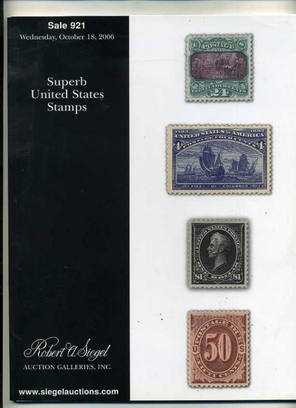 Siegel stamp sale of Superb US Stamps