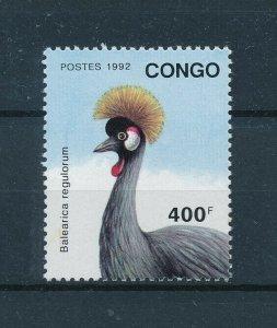 [102965] Congo Brazzaville 1992 Birds vögel oiseaux From sheet MNH