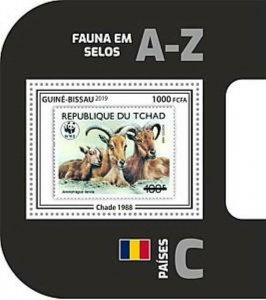 Guinea-Bissau - 2019 WWF Fauna Stamp on Stamp - Souvenir Sheet - GB190403b09