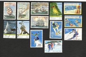 Ass't Australia SCOTT #894-97 #898-901 #1001-003 #1366a used stamps