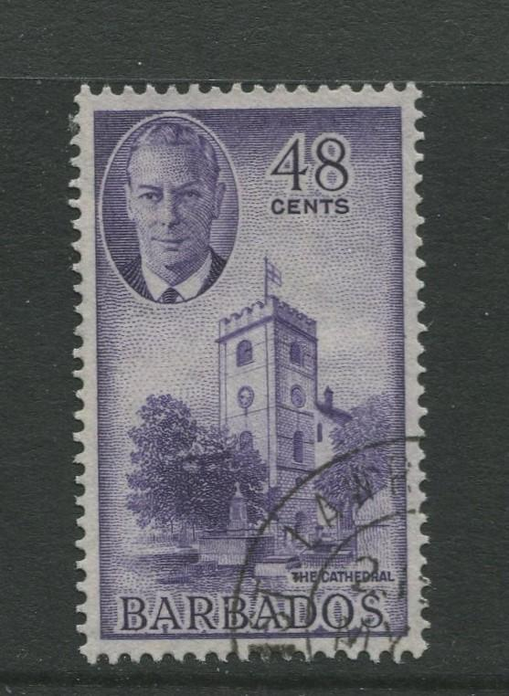 Barbados #224 VFU 1950  Single 48c Stamps