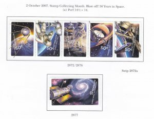 AUSTRALIA VF-MLH STAMP COLLECTING BLAST OFF 50 YEARS IN SPACE + SYDNEY BRDG S/S