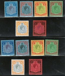 Bermuda #123 - #128 Very Fine Mint Lightly Hinged Perf 13 & 14