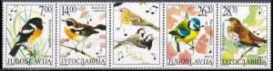 2002 Yugoslavia 3061-3064strip Birds 10,00 €
