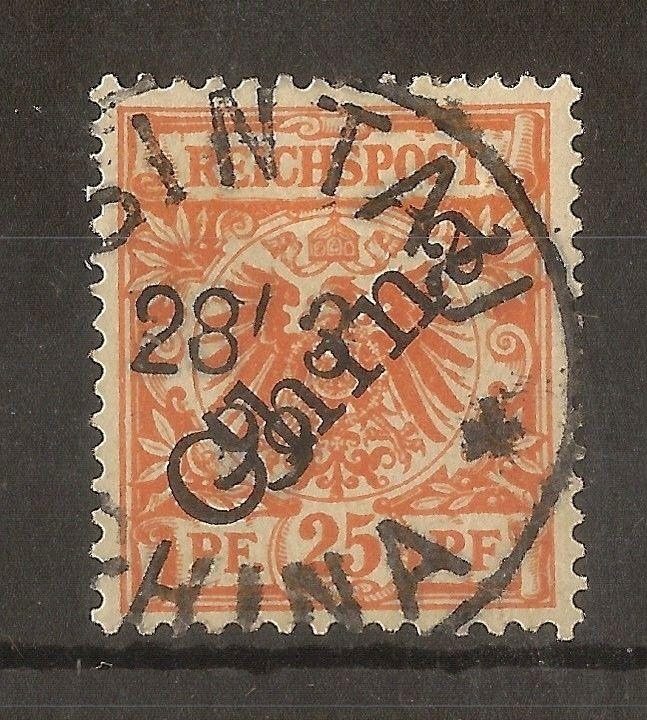 German PO's in China 1898 25pf SG5 Fine Used Cat£90
