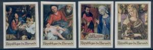 Burundi 222-5 imperf MNH Art, Paintings, Madonna, Carlo Crivelli