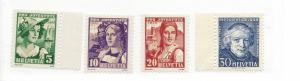 Switzerland, B65-B68, Various Designs Singles, MNH #2