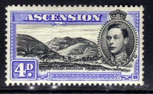 Ascension Island 1938 - 53 KGV1 4d Ultramarine & Black MM SG 42d ( R615 )