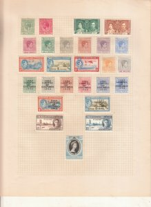 BAHAMAS ALBUM PAGE  VALUES MOSTLY GEORGE 5TH-QE 2ND, MOUNTED MINT