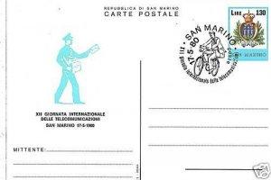 TMS118  INTERO POSTALE SAN MARINO - 1980 TELECOMMUNICAZIONI