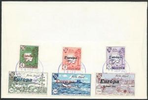 GB HERM CHANNEL ISLANDS 1961 Europa opt set FDC............................10636