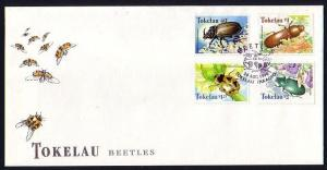 Tokelau, Scott cat. 255-258. Beetle`s issue on a First day cover. *