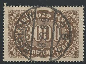 Germany #206 3000m Numeral of Value