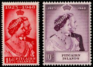 PITCAIRN ISLANDS SG11-12, COMPLETE SET, NH MINT. Cat £40. RSW