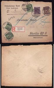 #8214 -  Germany - 1923 inflation registered to German bank