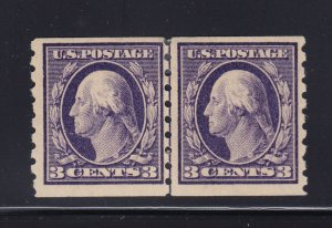 394 Linepair VF OG previously hinged with nice color cv $ 425 ! see pic !