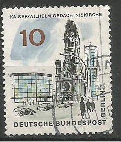 BERLIN, 1965, used 10pf Kaiser Wilhelm, Scott 9N223