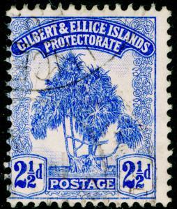GILBERT & ELLICE ISLANDS SG11, 2½d blue, FINE USED, CDS. Cat £15.