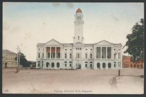 SINGAPORE c1910 postcard VICTORIA MEMORIAL HALL, unused....................43634