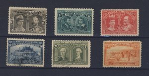 6x Canada 1908 Quebec Stamps #96-97-98-99-100-102 Guide Value = $290.00