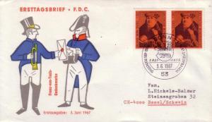 German FDC Sc.# 971 Franz Von Taxis L601