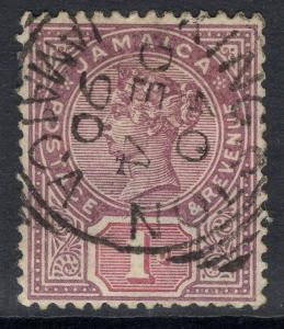 JAMAICA SG27 1889 1d PURPLE & MAUVE USED