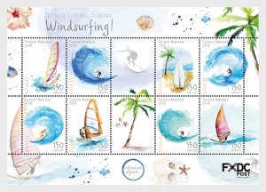 Stamps 2018 Caribbean Netherlands - Windsurfing (Bonaire) - Miniature Sheet