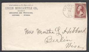 Scott 210, Cheyenne WY, Wyoming-Territorial-Postal History