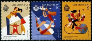 HERRICKSTAMP NEW ISSUES SAN MARINO Sc.# 2008-10 Int'l Day of Families