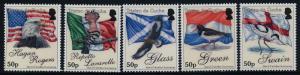 Tristan Da Cunha 910-4 MNH Flags, Birds