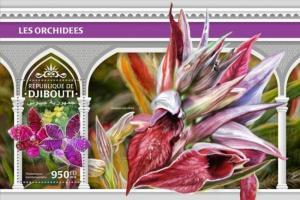 Djibouti - 2018 Orchids on Stamps - Stamp Souvenir Sheet - DJB18311b