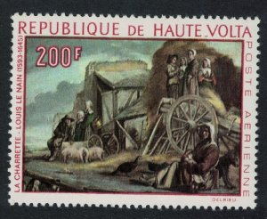 Upper Volta 'The Cart' Painting by Le Nain 1968 MNH SG#240