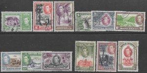 British Honduras 115-25    1938   set 12  fvf used