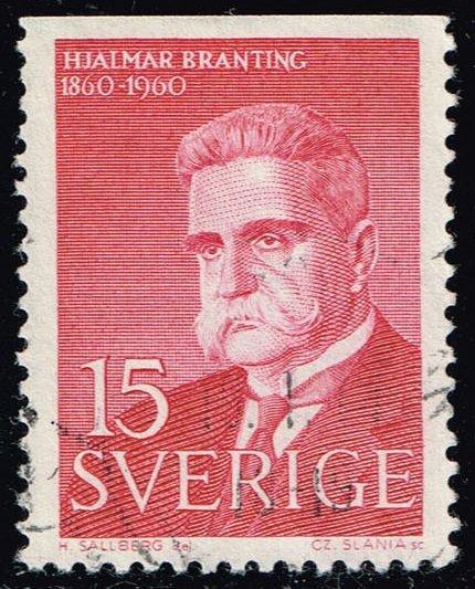 Sweden #566 Hjalmar Branting; Used (0.35)