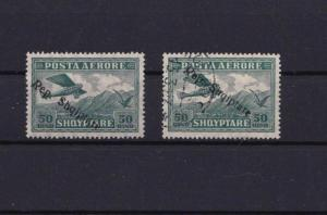 ALBANIA 1927 AIR OVERPRINT STAMPS CAT £25+ REF R1656