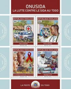 Z08 IMPERF TG190134a TOGO 2019 AIDS in Togo MNH ** Postfrisch