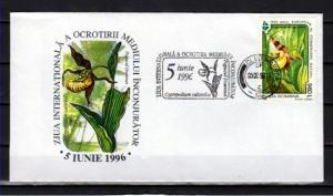 Romania, 1996 issue. 05/JUN/96. Orchid cancel on Cachet Cover.