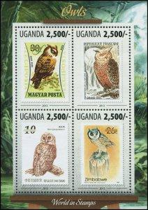 Uganda 2013 Sc 2073 Birds Owl CV $6