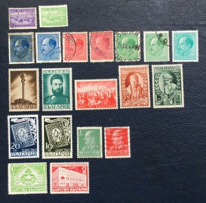 Bulgaria Stamps,1940,Sc#350-388,first Postage Stamps, Tsar Boris,postal System