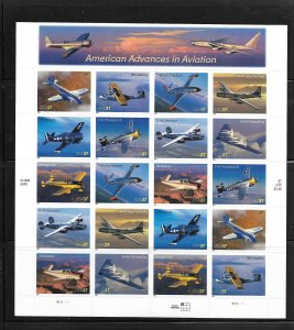 UNITED STATES OF AMERICA, 3916-3925, MNH, SS OF 20, AVIATION