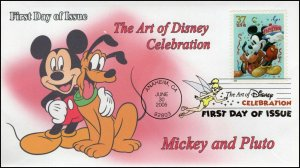 AO-3912–1, 2005, The Art of Disney Celebration, Digital Color Postmark Mickey