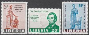 Liberia #423-5  MNH VF (V3412)