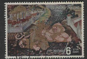 Thailand Scott 673 Used Buddhist Temple Fresco key stamp