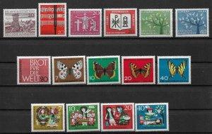 1962 Germany Commemorative & Semi Postal Year set MNH