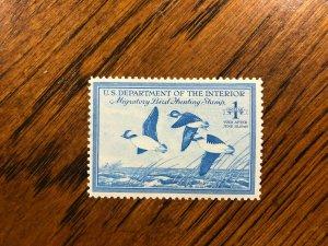 RW 15 1948 $1.00 Buffleheads Duck Stamp, Mint Hinged